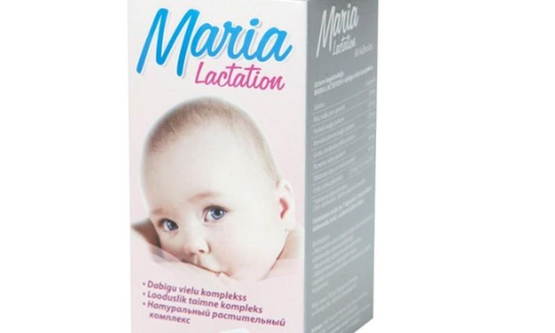 Maria Lactation – dabīgu augu vielu  komplekss laktācijas stimulēšanai barojošām ar krūti māmiņām
