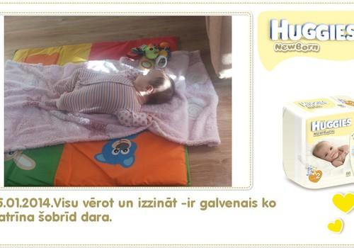Katrīna aug kopā ar Huggies® Newborn: 91.dzīves diena
