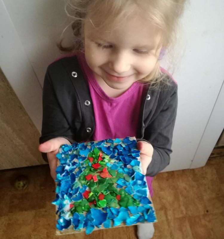 Jaunais mozaīkas meistars- Laima. 3. Nedēļa- Ak, Eglīte...