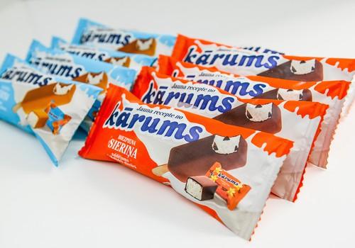 """Latvijā radīts jauns saldējuma veids- biezpiena sieriņa saldējums """"Kārums"""""""