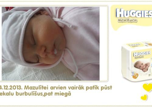 Katrīna aug kopā ar Huggies® Newborn: 57.dzīves diena