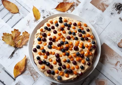 Ķirbja - smiltsērkšķu kūka