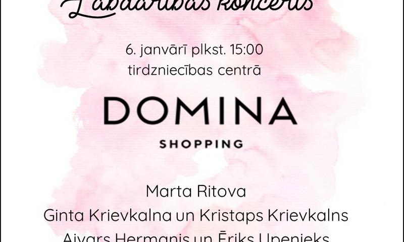 """Zvaigznes dienā – projekta """"Bēbīšu māja"""" labdarības koncerts tirdzniecības centrā """"Domina Shopping"""""""
