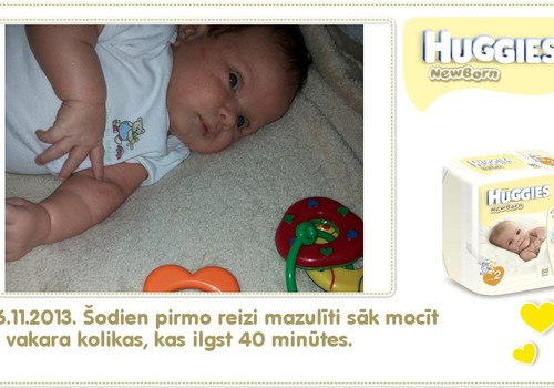 Katrīna aug kopā ar Huggies® Newborn: 29.dzīves diena