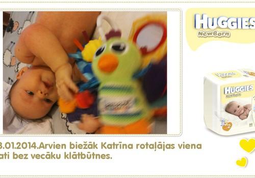 Katrīna aug kopā ar Huggies® Newborn: 89.dzīves diena