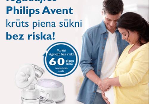 """Akcija """"Philips Avent krūts piena sūknis – iegādājies bez riska"""""""