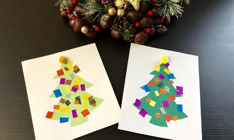 Gatavojam Ziemassvētku kartiņas ar trīsgadnieku!