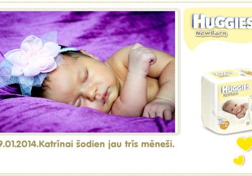 Katrīna aug kopā ar Huggies® Newborn: 95.dzīves diena