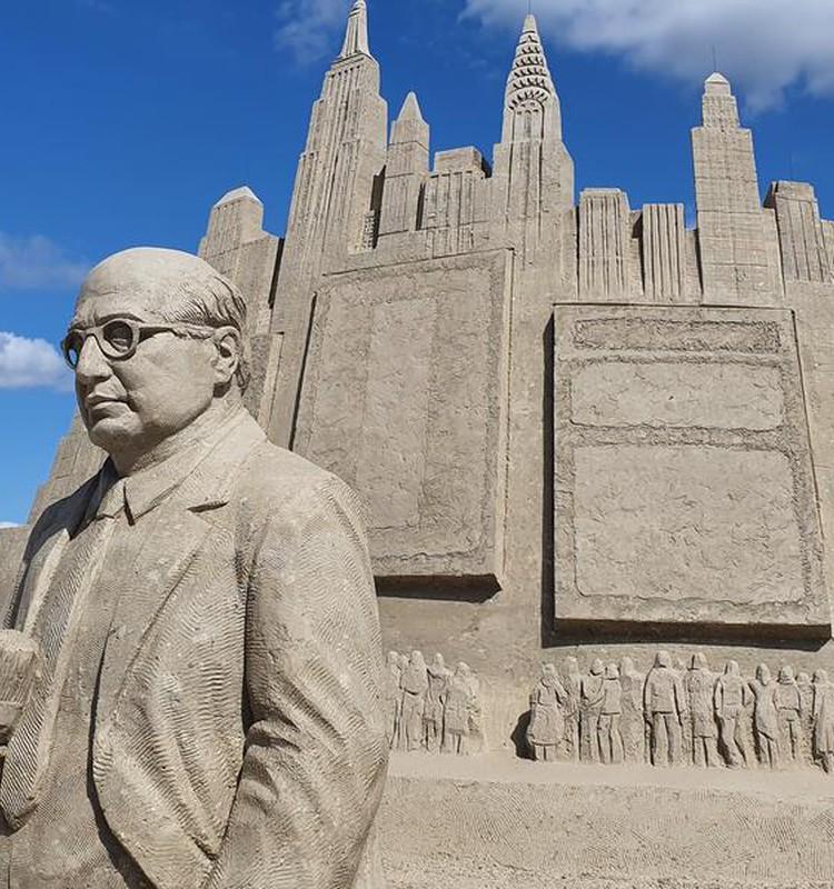 Jelgava: Smilšu skulptūru parks