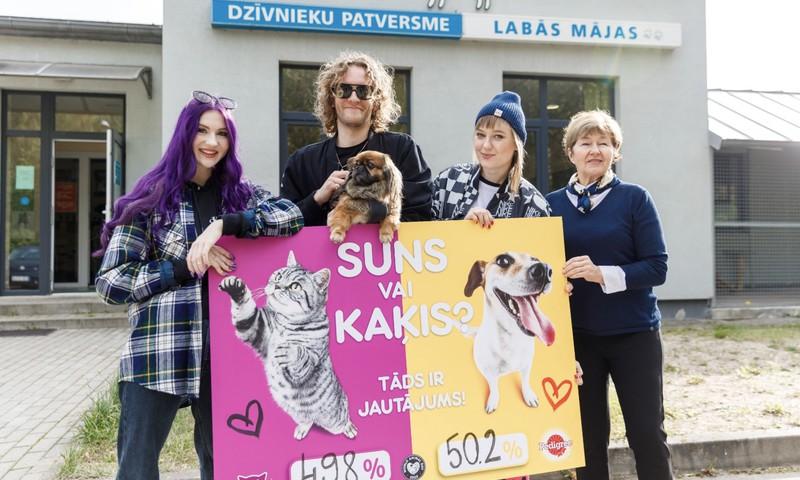 Ar balsojumu 49.8% pret 50.2% noskaidrojies, ka Latvija ir suņu cilvēku valsts