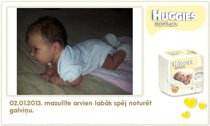 Katrīna aug kopā ar Huggies® Newborn: 66.dzīves diena