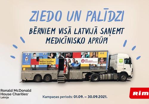 Ronald McDonald House Charities Latvija un Rimi sāk ziedojumu kampaņu  bērniem Latvijas reģionos