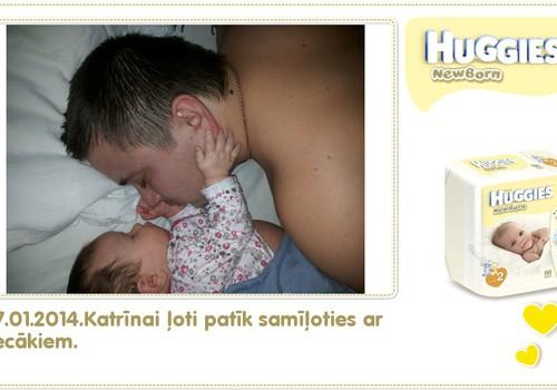 Katrīna aug kopā ar Huggies® Newborn: 93.dzīves diena