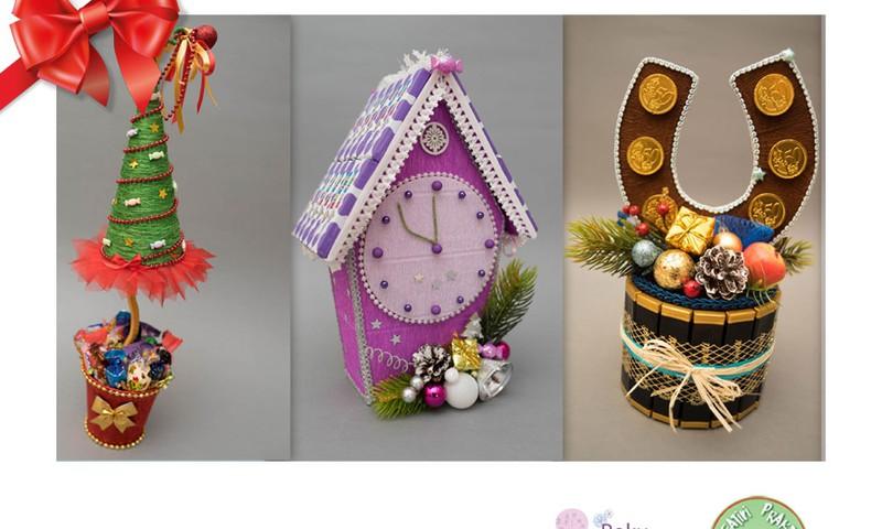 Huggies® svētku dāvanu katalogs: Konfekšu pušķi - roku darbs
