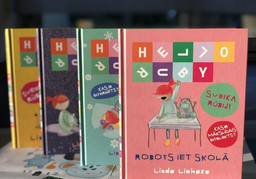 """Jauna grāmata bērniem par mākslīgo intelektu """"Sveika, Rūbij! Robots iet skolā"""""""