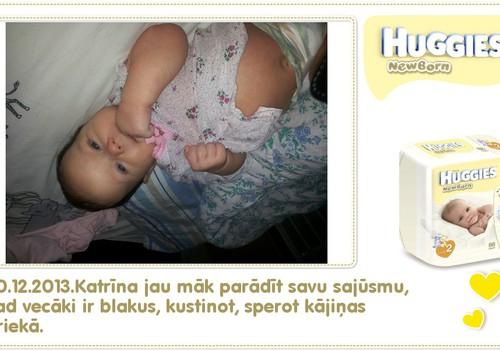 Katrīna aug kopā ar Huggies® Newborn: 53.dzīves diena