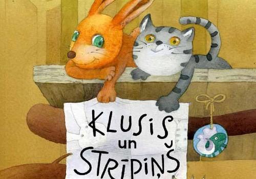 """10 pasaciņas par kaķēnu un trusi grāmatā """"Klusis un Strīpiņš"""" šonedēļ ar 60% atlaidi!"""