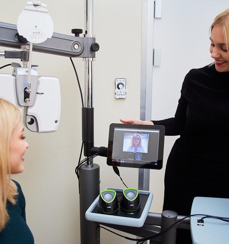 Telemedicīnas uzņēmums testē attālinātas redzes pārbaudes