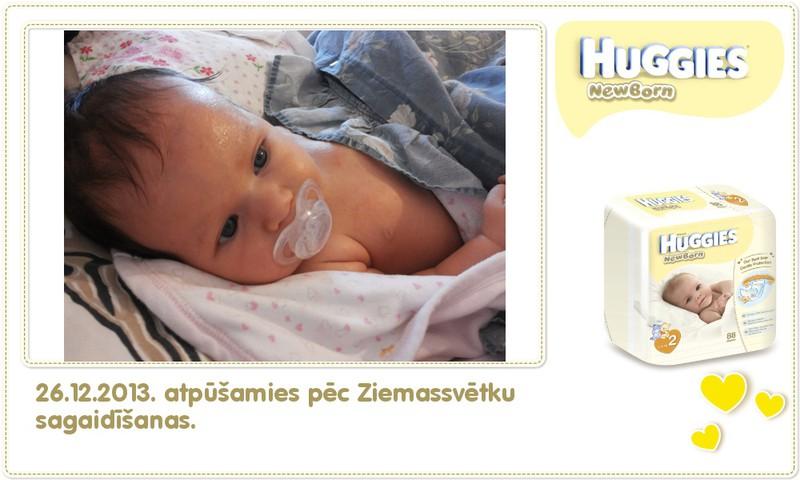 Katrīna aug kopā ar Huggies® Newborn: 59.dzīves diena