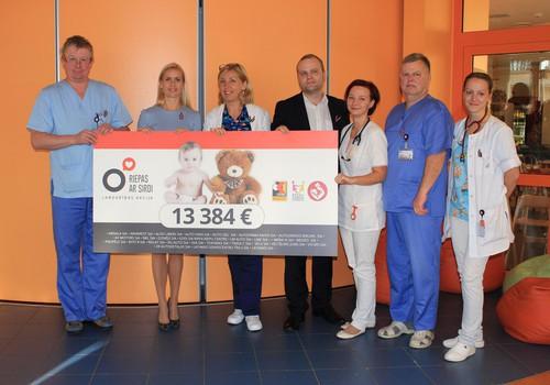 Riepas ar sirdi 5 gados Bērnu slimnīcai ziedo vairāk nekā 50 000 eiro!