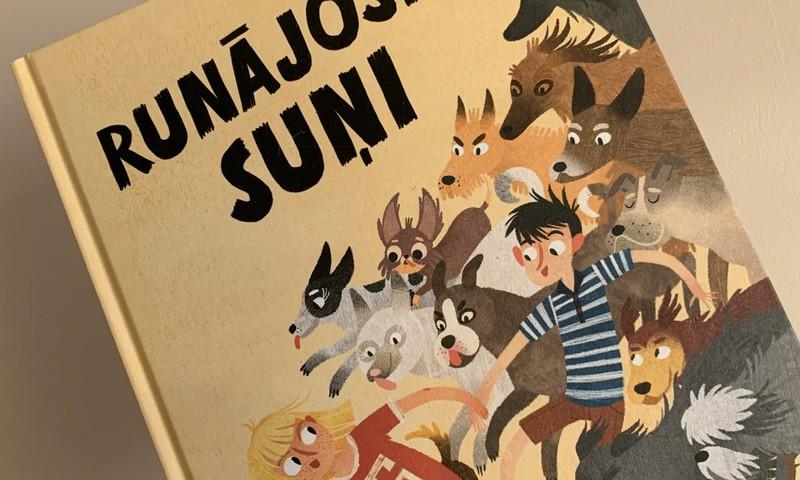 Runājošie suņi - grāmata, kas bērnu aizrauj