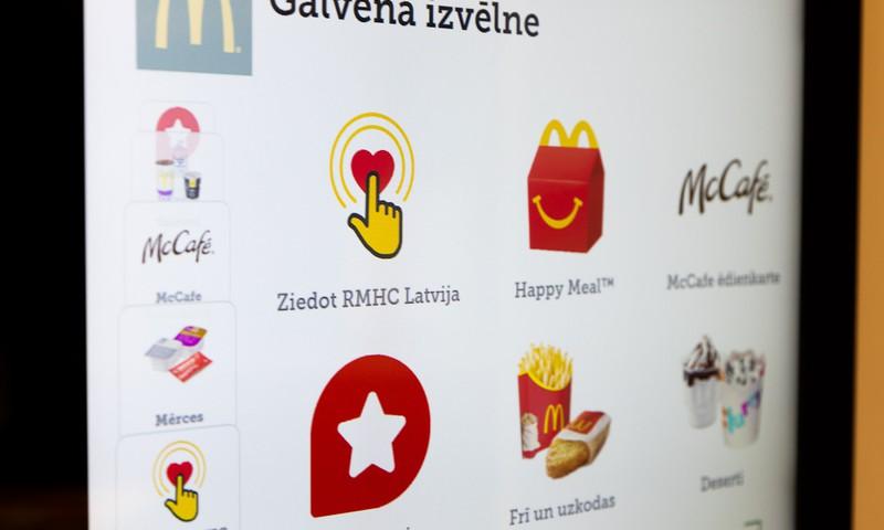 """Palīdzēt ir viegli – tagad bērnu veselībai var ziedot arī """"McDonald's"""" pašapkalpošanās kioskos"""