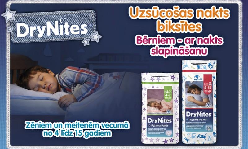 DryNites® uzsūcošas nakts biksītes par īpašu cenu veikalos PRISMA līdz 10.septembrim
