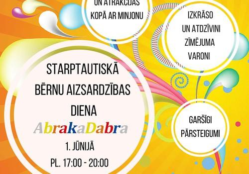 AbrakaDabra rotaļu istaba aicina uz rotaļāšanās priekiem 1.jūnijā!