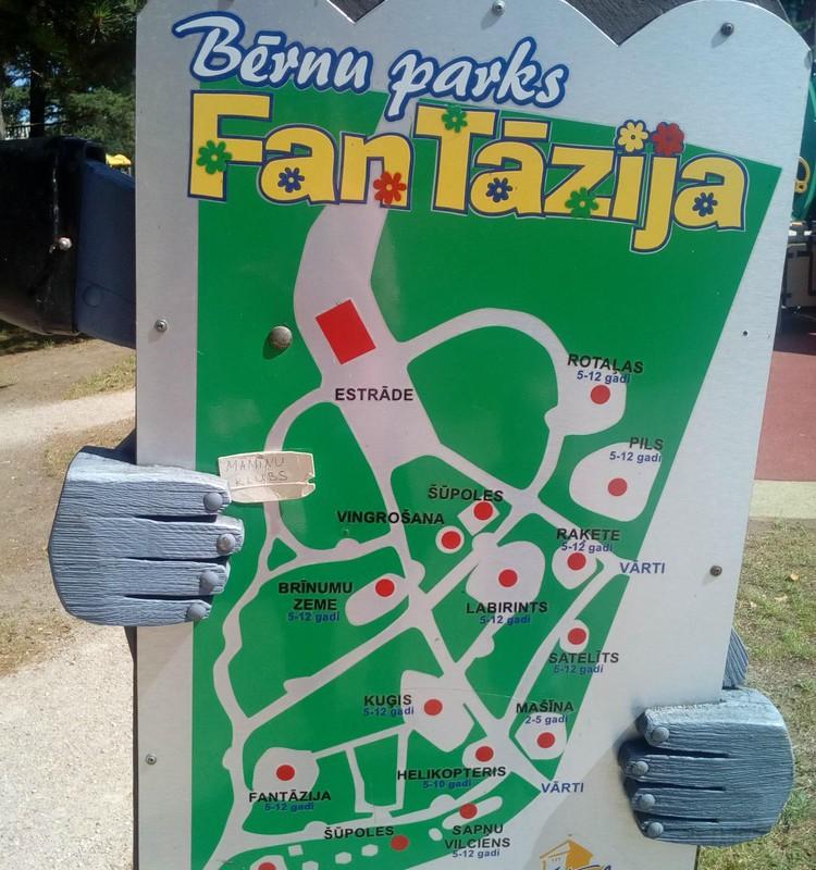 """Bērnu parks """"Fantāzija"""" Ventspilī"""
