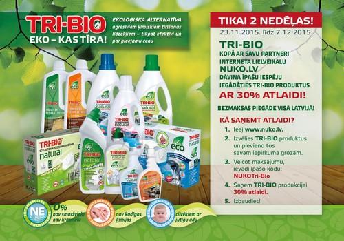 TRI-BIO produkti ar 30% atlaidi: izmanto izdevību!