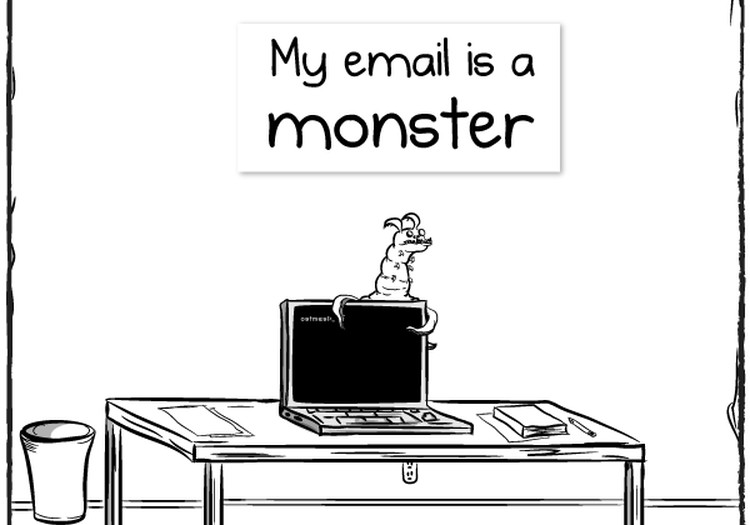 E-pasta monstriņš telefonā