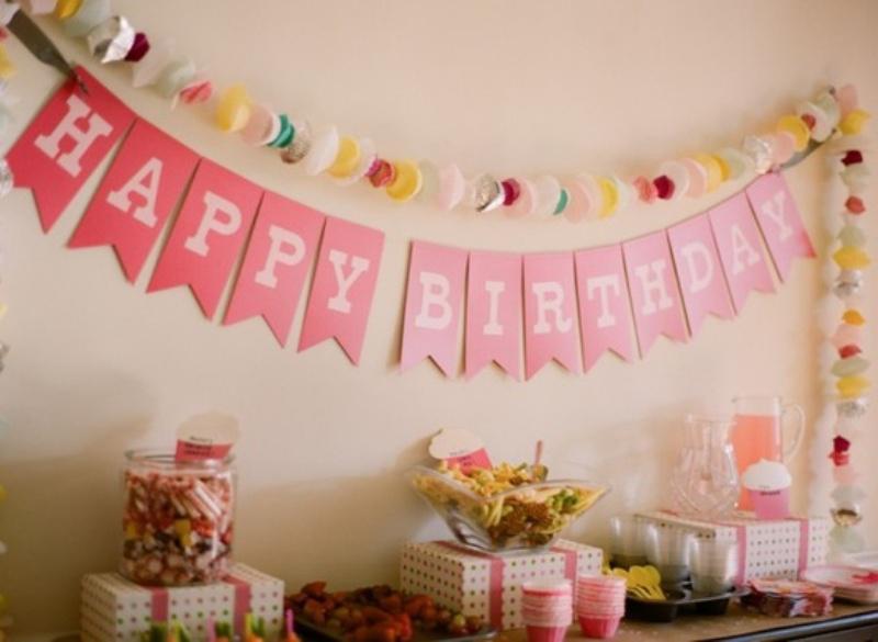 Оформление день рождения